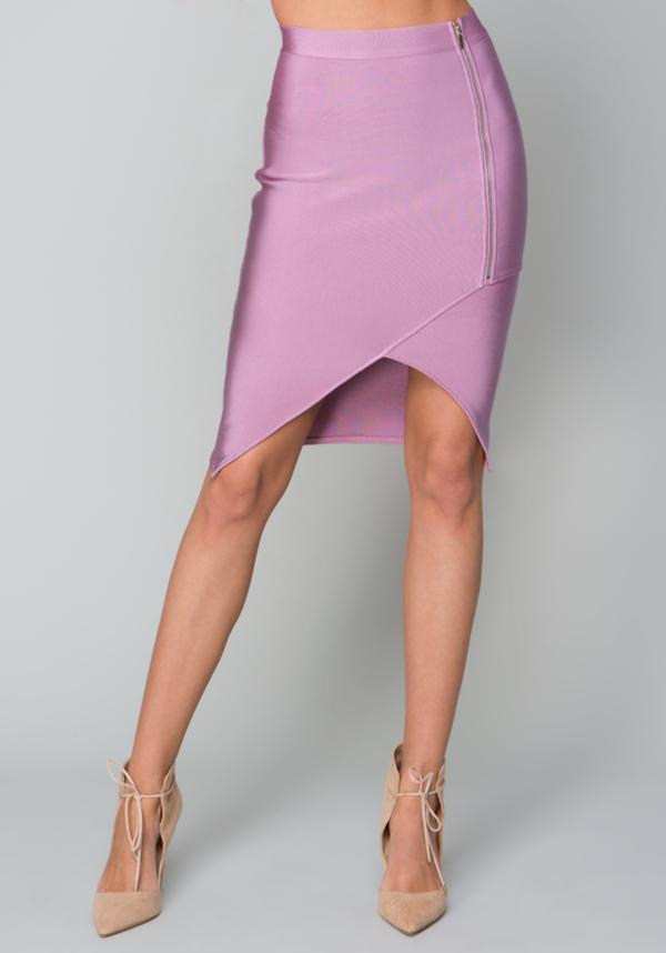 Zip Front Bandage Skirt at bebe in Sherman Oaks, CA | Tuggl