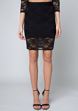 bebe Pia Lace Skirt