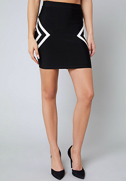 bebe Kendall Colorblock Skirt