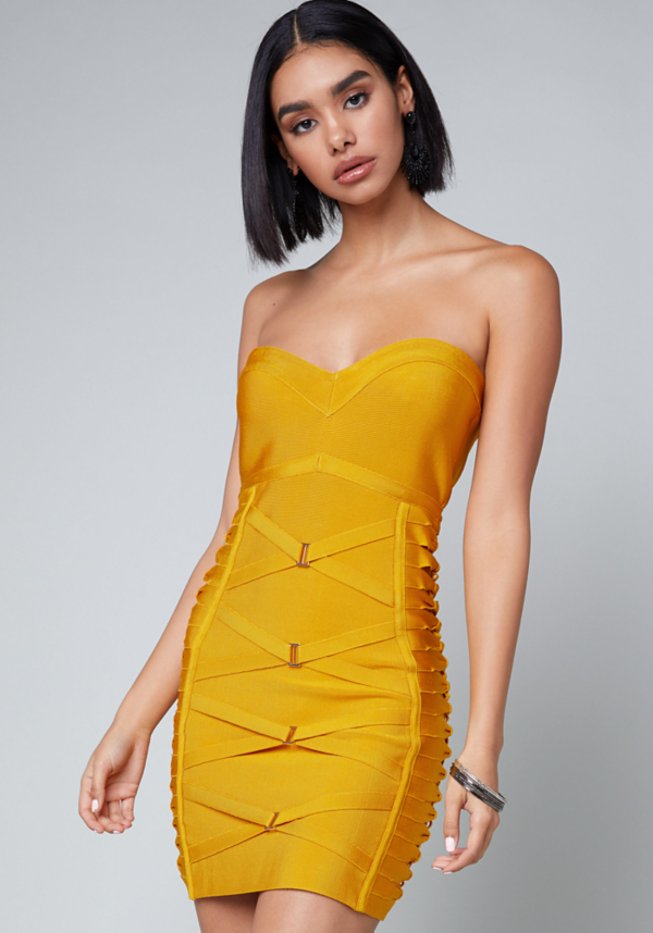 Strapless Bandage Dress at bebe in Sherman Oaks, CA | Tuggl