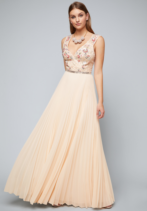 Georgi Pleated Gown | Tuggl