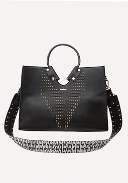 bebe Isabella Studded Tote