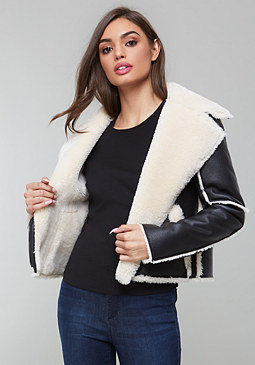 bebe Stevie Shearling Jacket