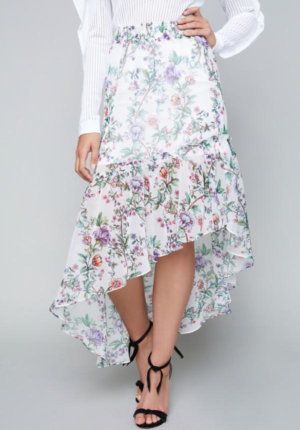 Hi-Lo Ruffled Maxi Skirt at bebe in Sherman Oaks, CA | Tuggl