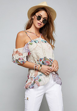 bebe Nathana Off Shoulder Top
