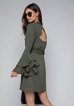 bebe Natalie Long Sleeve Dress