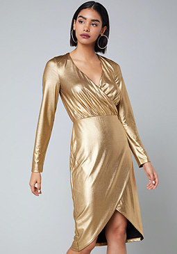 bebe Shana Metallic Dress