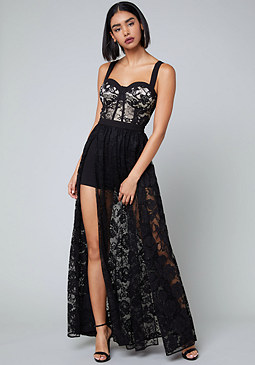 bebe Logan Shorts Gown
