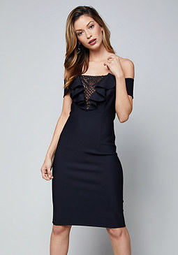 bebe Diane Off Shoulder Dress