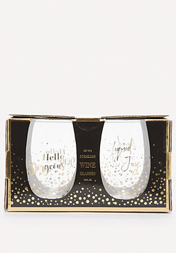 bebe Hello Gorgeous Wine Glasses
