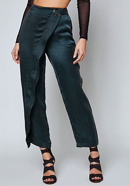bebe Amy Cupro Wrap Pants
