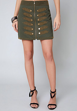 bebe Babs Embellished Skirt