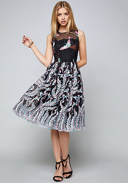 bebe Madison Embroidered Dress