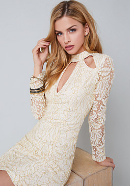 bebe Tina Lace Dress