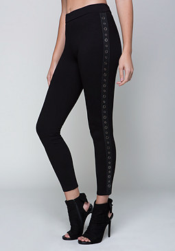 bebe Side Grommet Leggings
