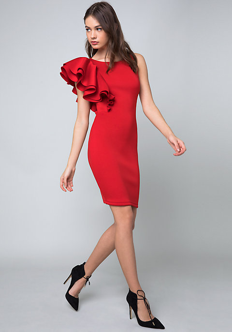 6ea55ad25c6 Ruffled One Shoulder Dress