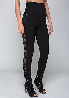 Bebe Side Lace Leggings