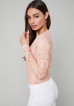 Lace Bodysuit at bebe