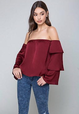 bebe Sally Off Shoulder Top