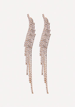 bebe Crystal Duster Earrings