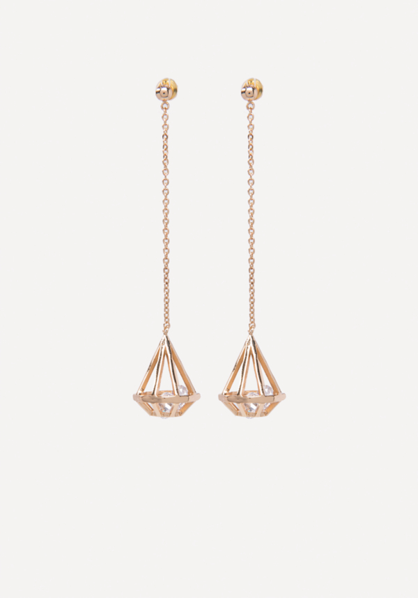 Geo Crystal Drop Earrings at bebe in Sherman Oaks, CA | Tuggl