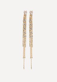 Chain Thread Long Earrings
