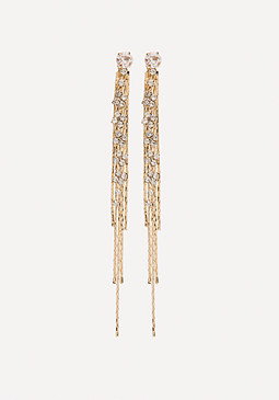 bebe Chain Thread Long Earrings