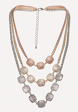 bebe Crystal Pave Necklace
