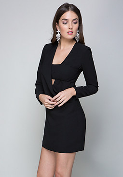 bebe Cynthia Crepe Dress