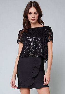 bebe Kaila Bow Back Top