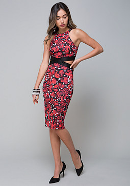 bebe Side Cutout Dress