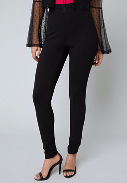 bebe Ponte Pull On Leggings