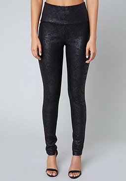 bebe Back Zip High Rise Leggings