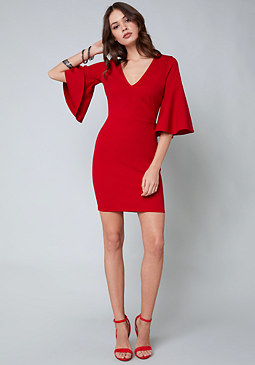 bebe Ella Bell Sleeve Dress