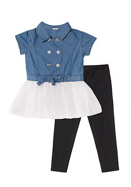 bebe Dress & Leggings Set