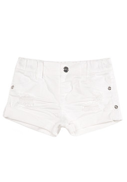 bebe Denim Roll Cuff Shorts
