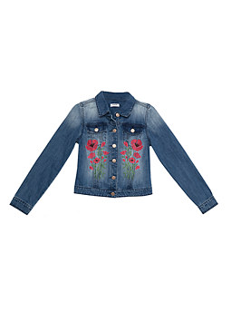 bebe Embroidered Denim Jacket