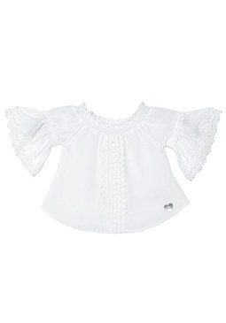 bebe Crochet Trim Voile Top