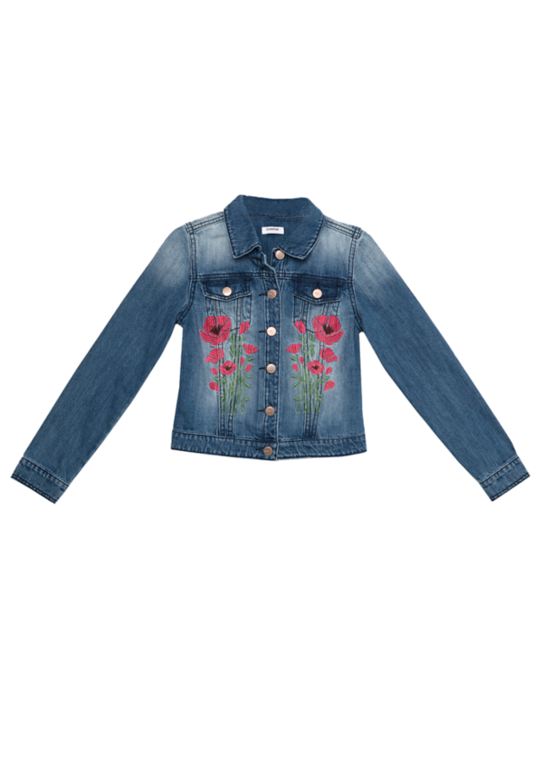 Embroidered Denim Jacket at bebe in Sherman Oaks, CA | Tuggl