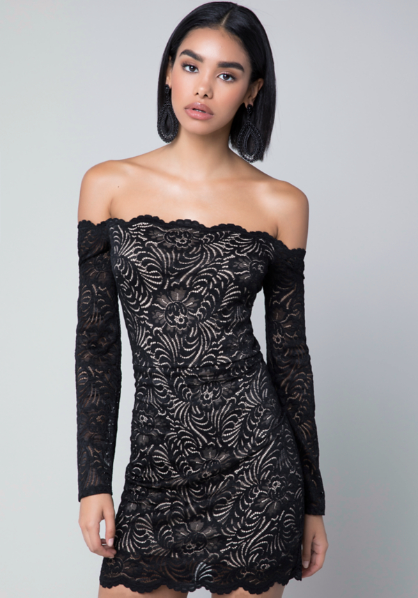 Scallop Lace Dress at bebe in Sherman Oaks, CA | Tuggl