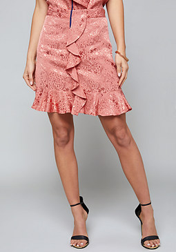 bebe Azaelia Ruffled Skirt