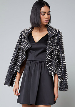 bebe Allover Spike Stud Jacket