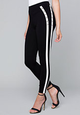 bebe Sporty Lace Up Leggings