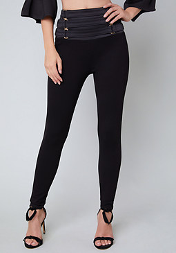 bebe Strap Waist Leggings