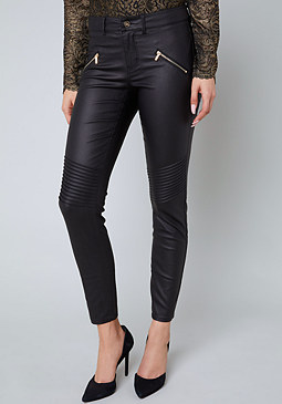 bebe Coated Zip Pants