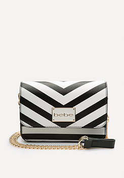 bebe Kiki Chevron Crossbody Bag