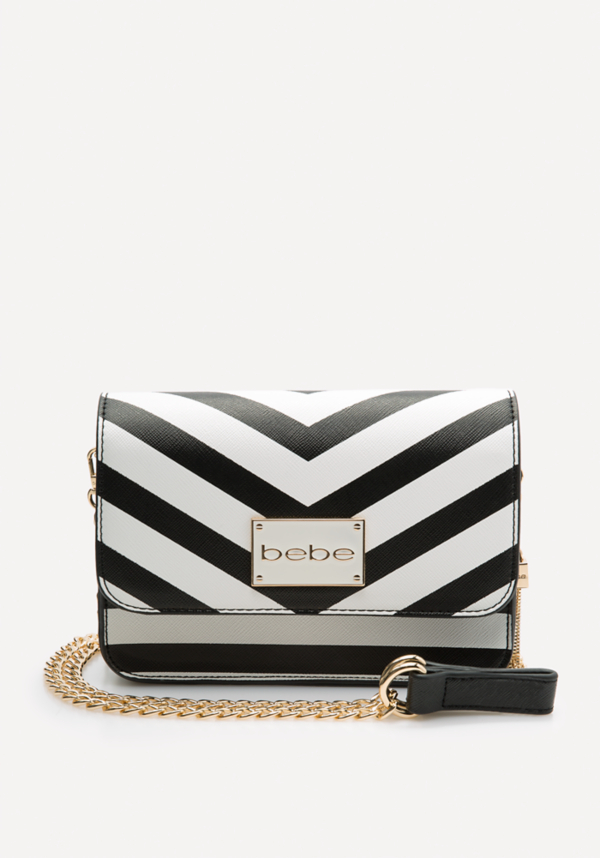 Kiki Chevron Crossbody Bag at bebe in Sherman Oaks, CA | Tuggl