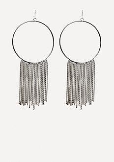 Mesh Chain Hoop Earrings