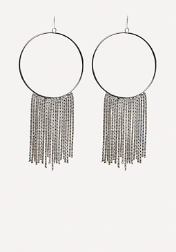 bebe Mesh Chain Hoop Earrings