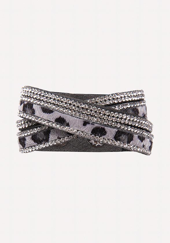 Faux Leopard Wrap Bracelet